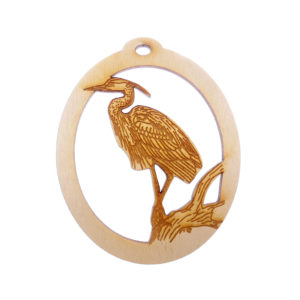 Personalized Blue Heron ornament
