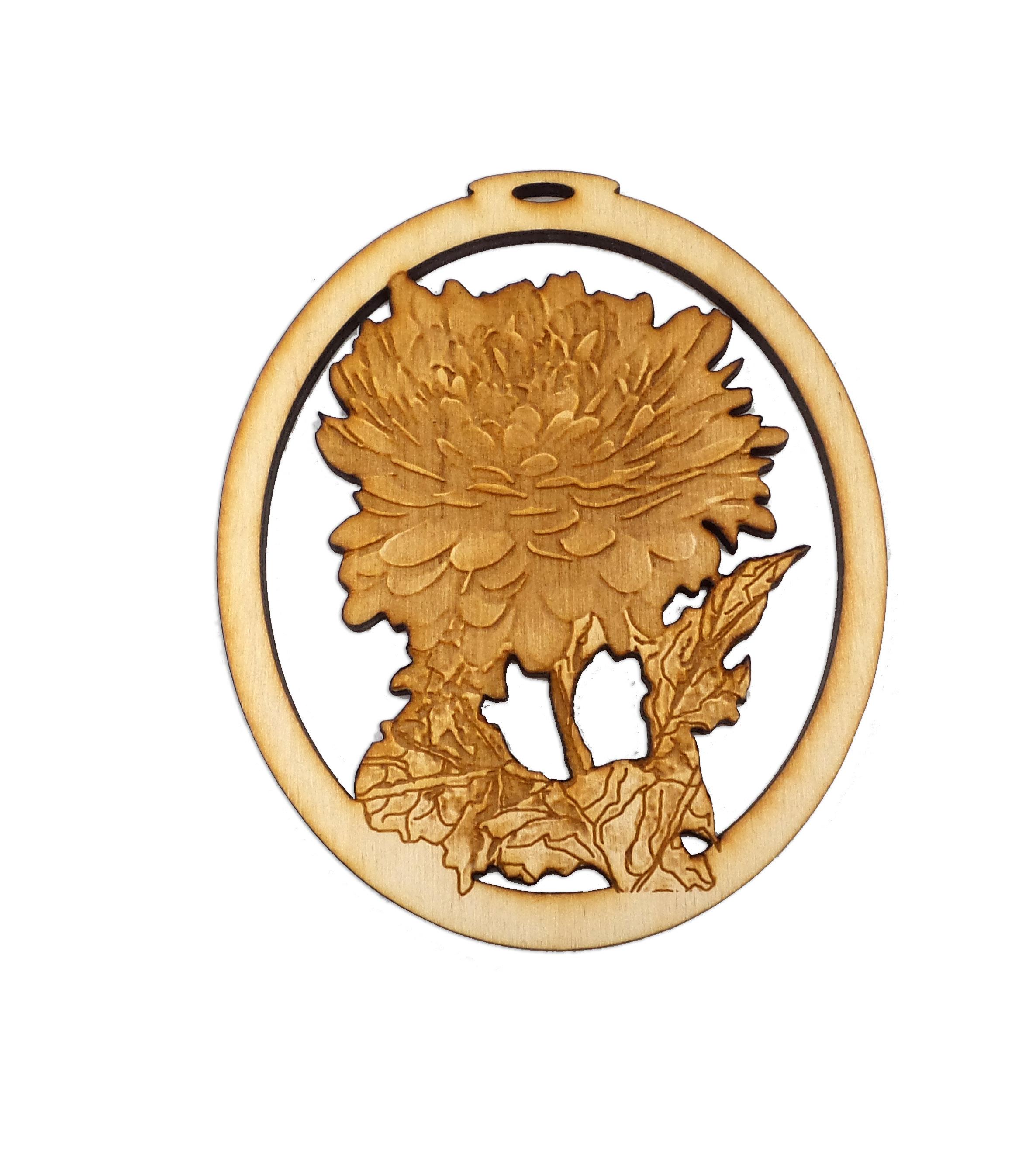 personalized chrysanthemum ornament