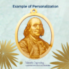 Personalized Ben Franklin Ornament