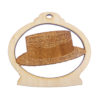 Personalized Straw Hat Ornament