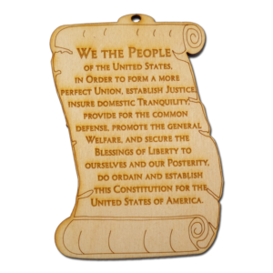 US Constitution Preamble Ornament