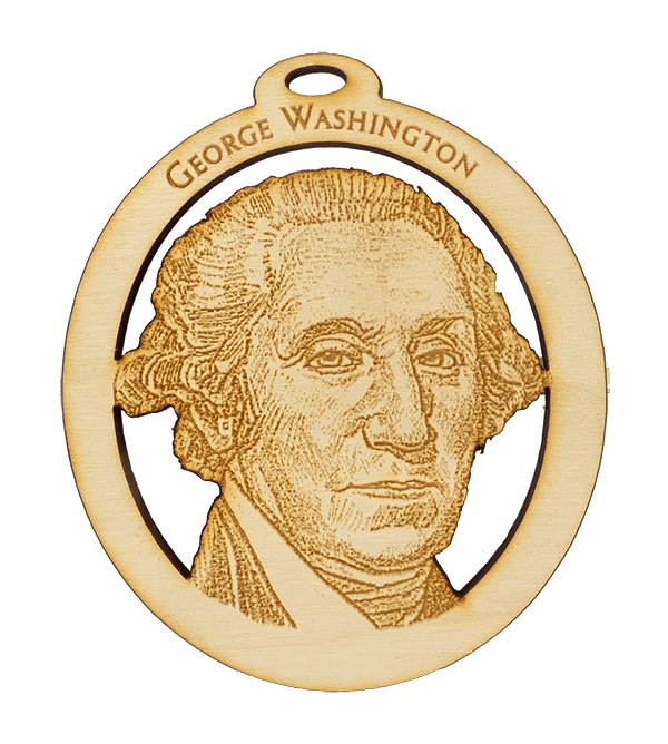 Personalized George Washington Ornament