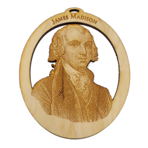 Handmade James Madison Ornament