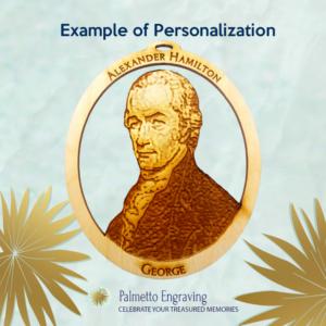 Personalized Alexander Hamilton Ornament