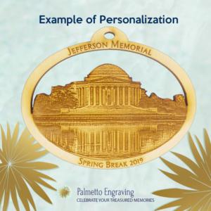 Personalized Jefferson Memorial Ornament