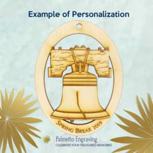 Personalized Liberty Bell Ornament