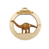 Personalized Brontosaurus Ornament