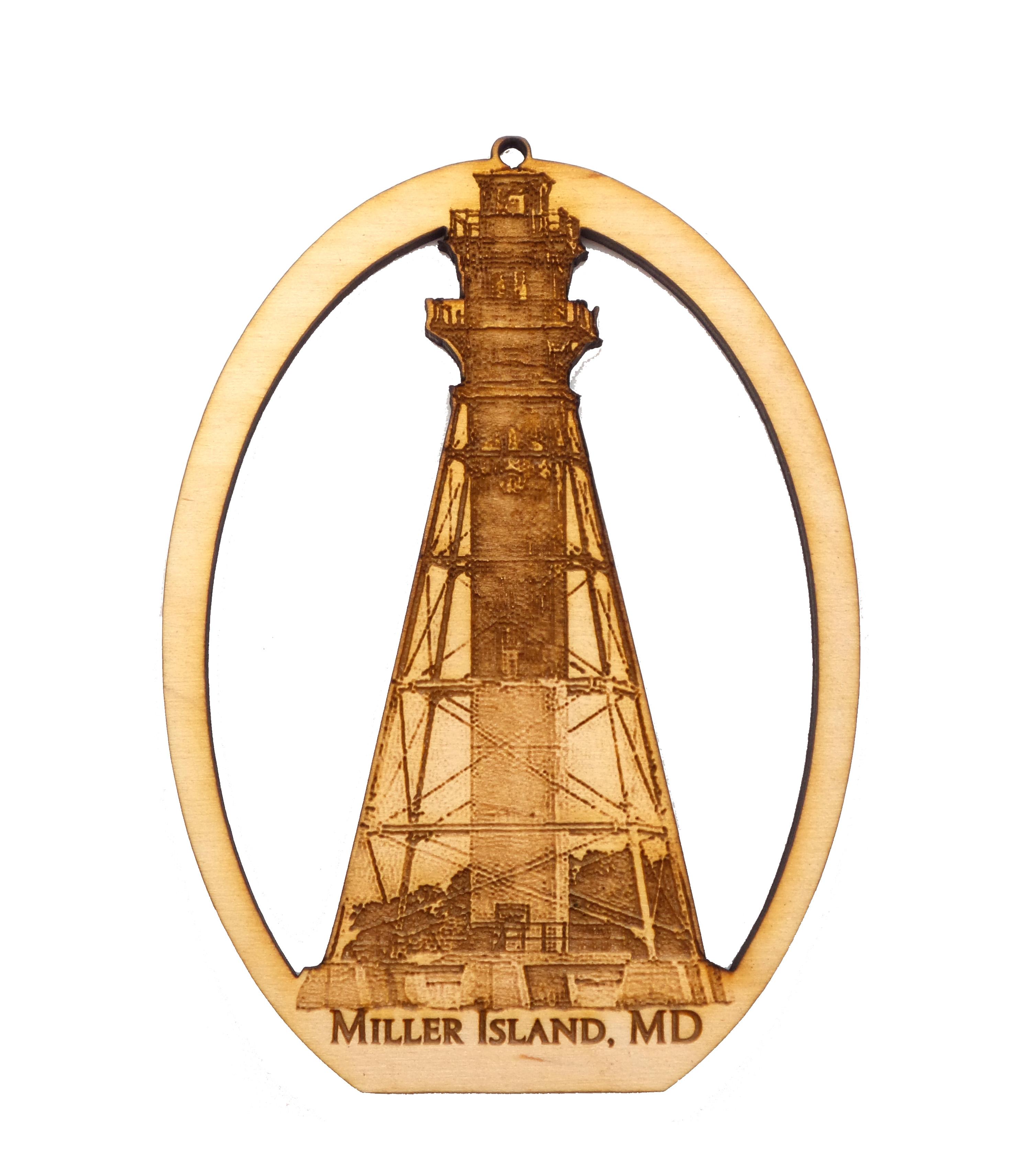 Miller Island Lighthouse Ornament