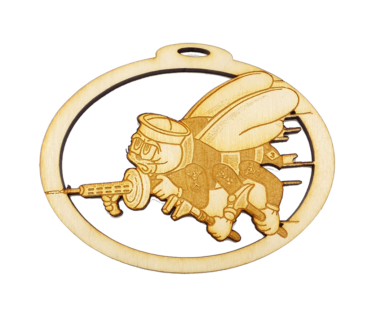Personalized Navy Seabee Ornament