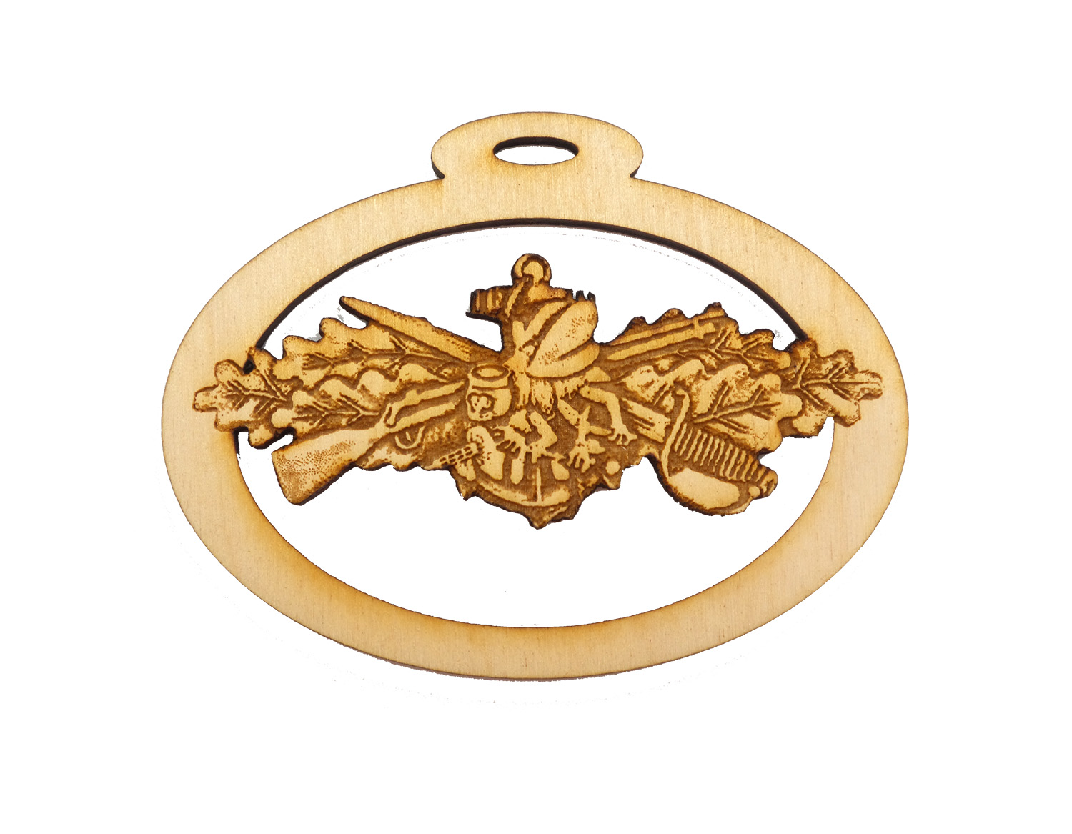 Personalized Navy Seabee Warfare Ornament