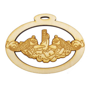 Navy Warfare Dolphins Ornament