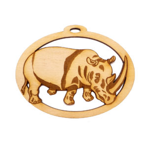 Personalized Rhinoceros Ornament