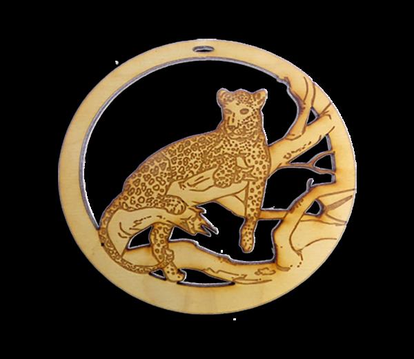 Personalized Leopard Ornament