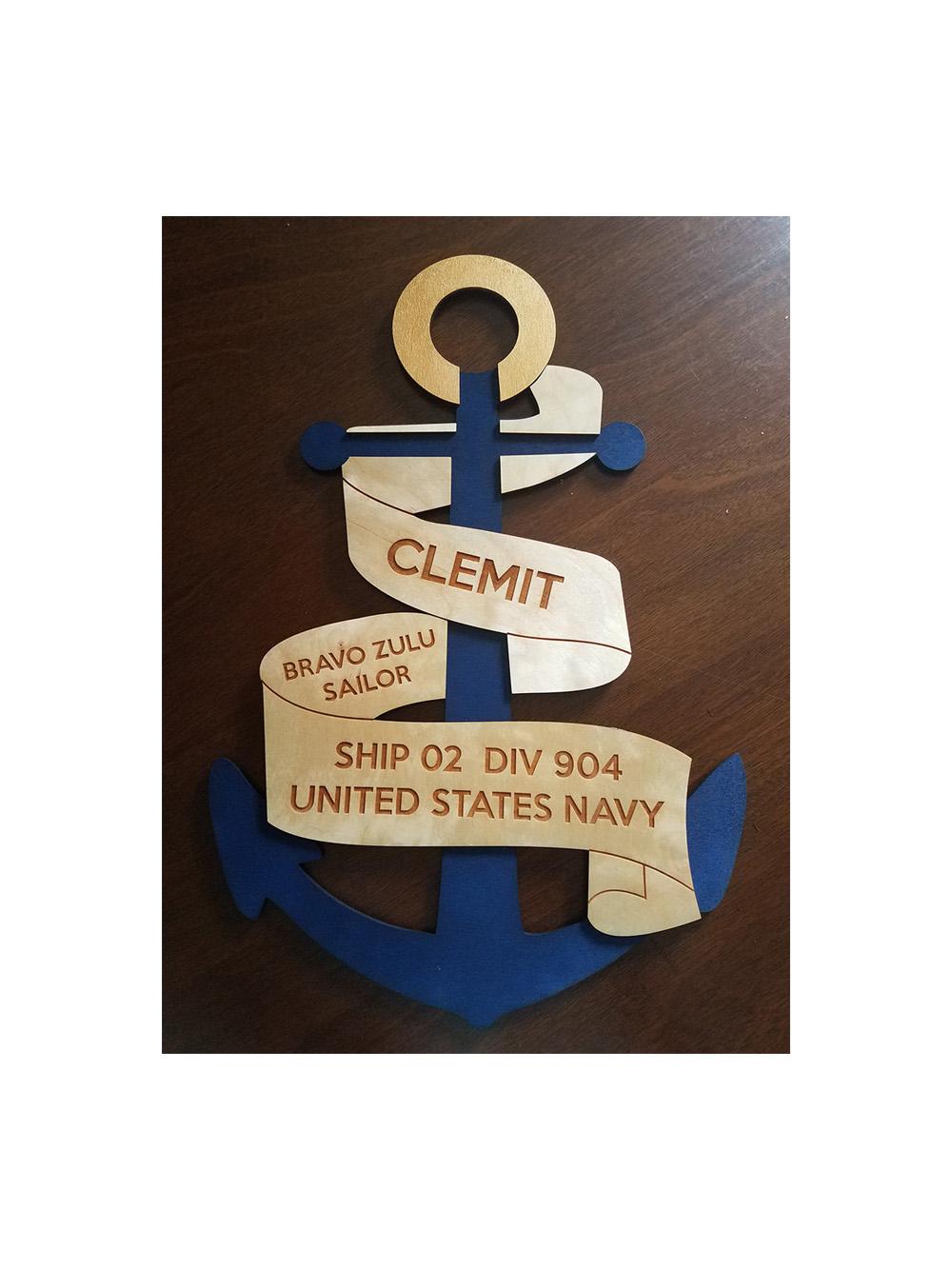 Custom navy pir door decoration anchor door decoration for Anchor door decoration