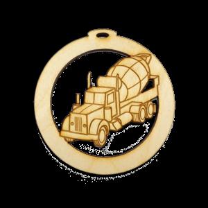 Personalized Cement Truck Ornament