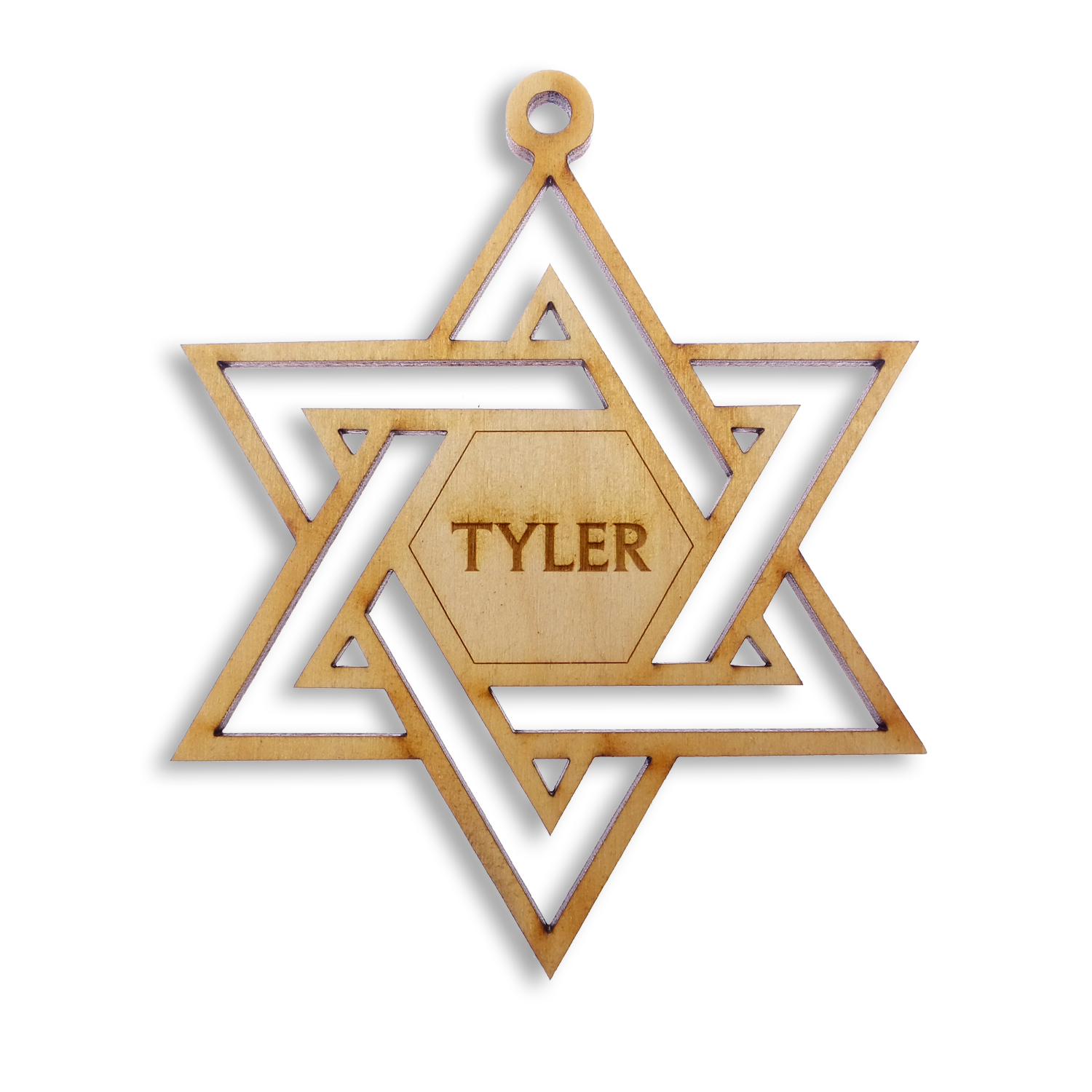 Personalized Star of David Ornament