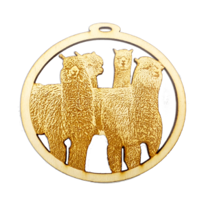 Herd of Alpacas Ornament