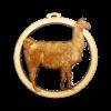Personalized Llama Ornament