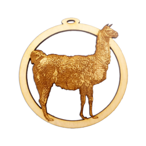 Personalized Llama Ornament