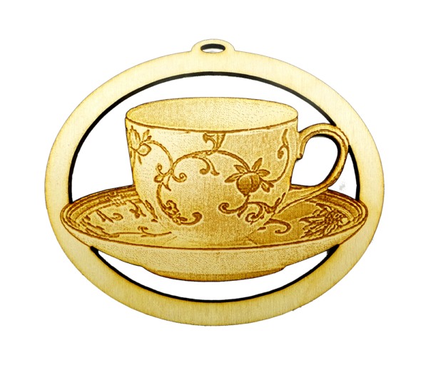 Personalized Teacup Ornament