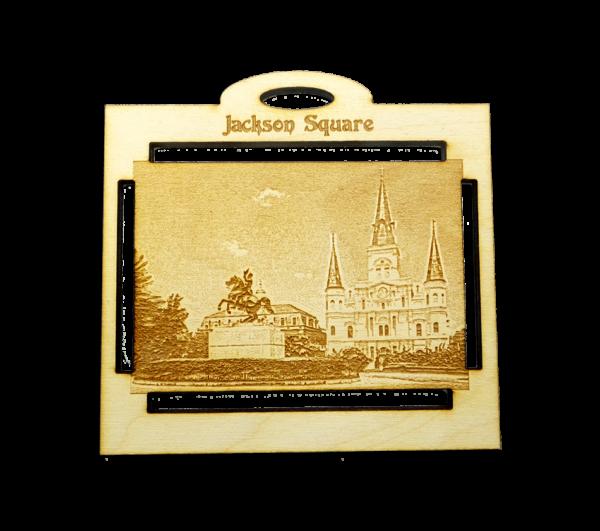 Personalized Jackson Square Ornament - New Orleans Souvenir