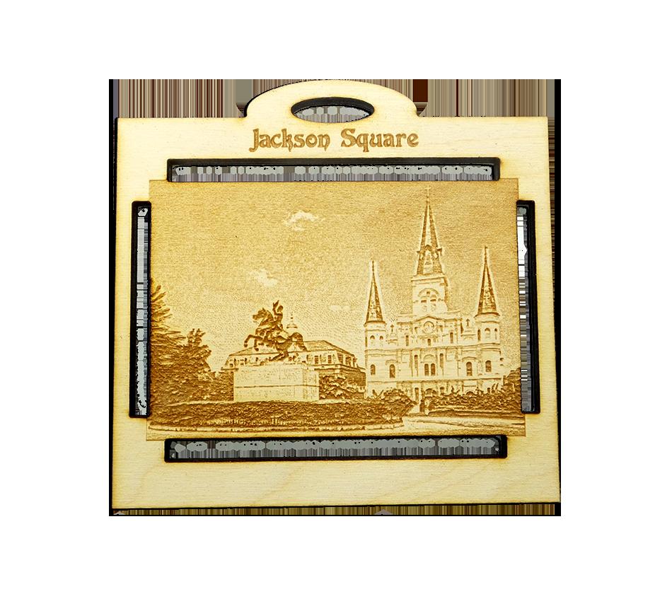 Personalized Jackson Square Ornament – New Orleans Souvenir