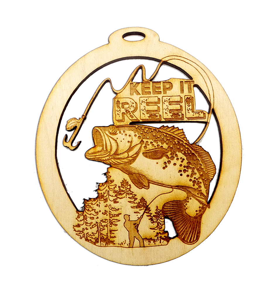 Personalized Bass Fishing Ornament – Keep it Reel