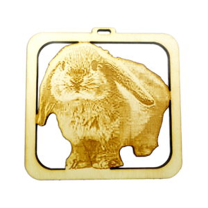Personalized Lop Bunny Ornament