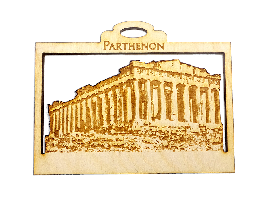 Personalized Parthenon Ornament – Greece Souvenir