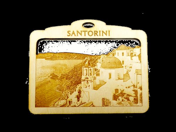 Personalized Santorini Ornament - Greece Souvenir