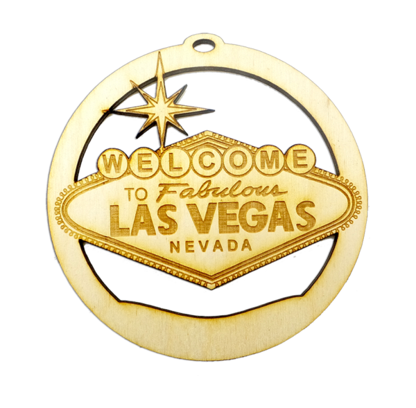 Personalized Welcome to Las Vegas Sign Ornament