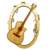 Personalized Acoustic Guitar Christmas Ornament