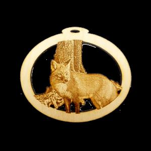 Personalized Woodland Fox Ornament