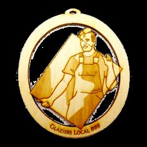 Personalized Glass Glazers Ornament