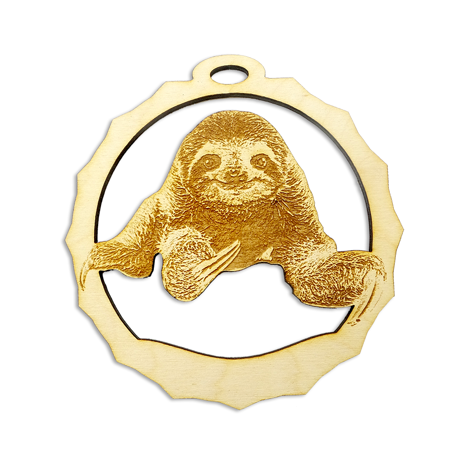 Personalized Sloth Christmas Ornament