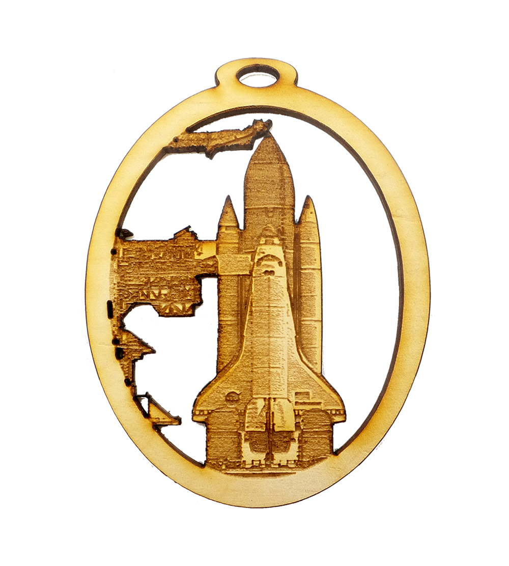 Personalized Space Shuttle Ornament