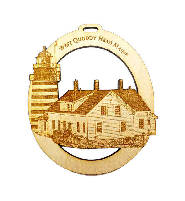 Personalized West Quoddy Head Lighthouse Ornament