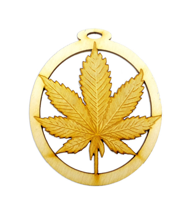 Personalized Pot Leaf Ornament