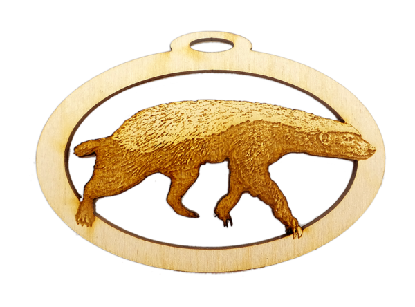 Personalized Honey Badger Ornament