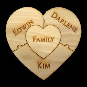 4 pc Family Unity Puzzle