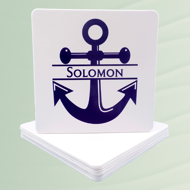 Personalized Anchor Coasters
