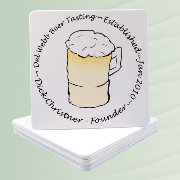 Personalized Coasters for Beer Club