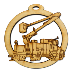 Personalized Bucket Truck Ornament