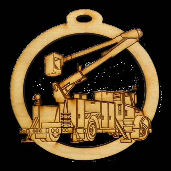 Personalized Bucket Truck Ornament