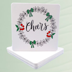 Christmas Cheers Coasters Set