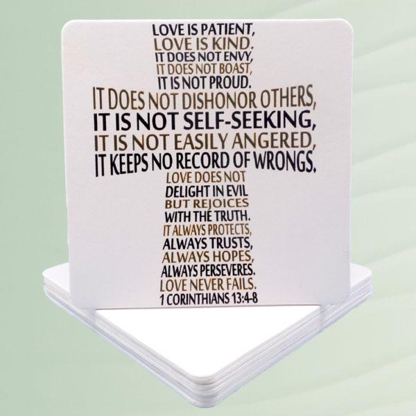 1 Corinthians 13:4-8 Paper Coasters