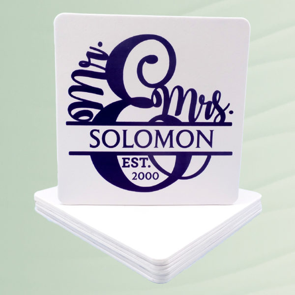 Personalized Mr and Mrs Coasters