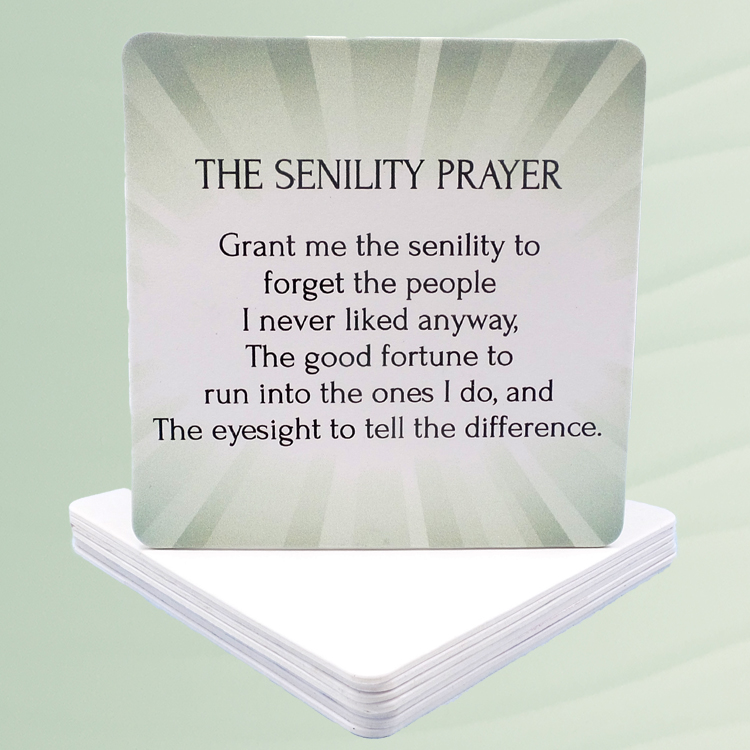 Senility Prayer Coasters