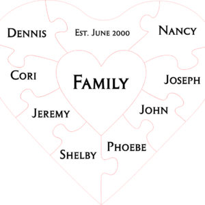 10pc Family Unity Puzzle