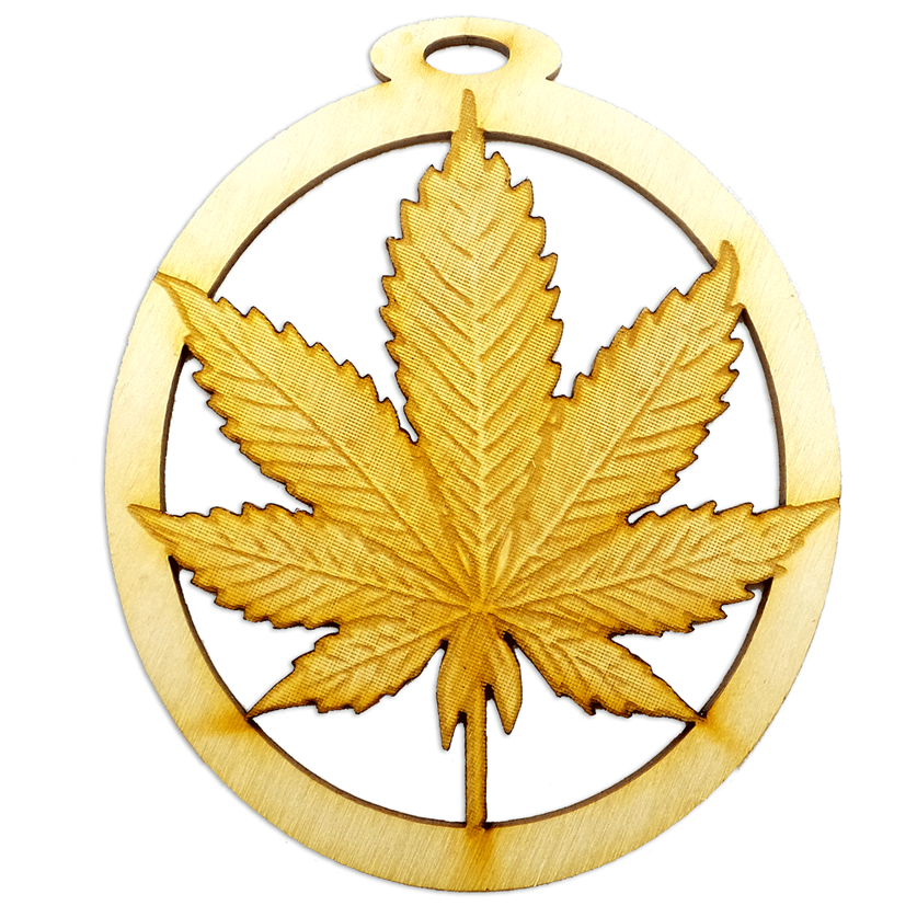 Personalized Pot Leaf Ornament